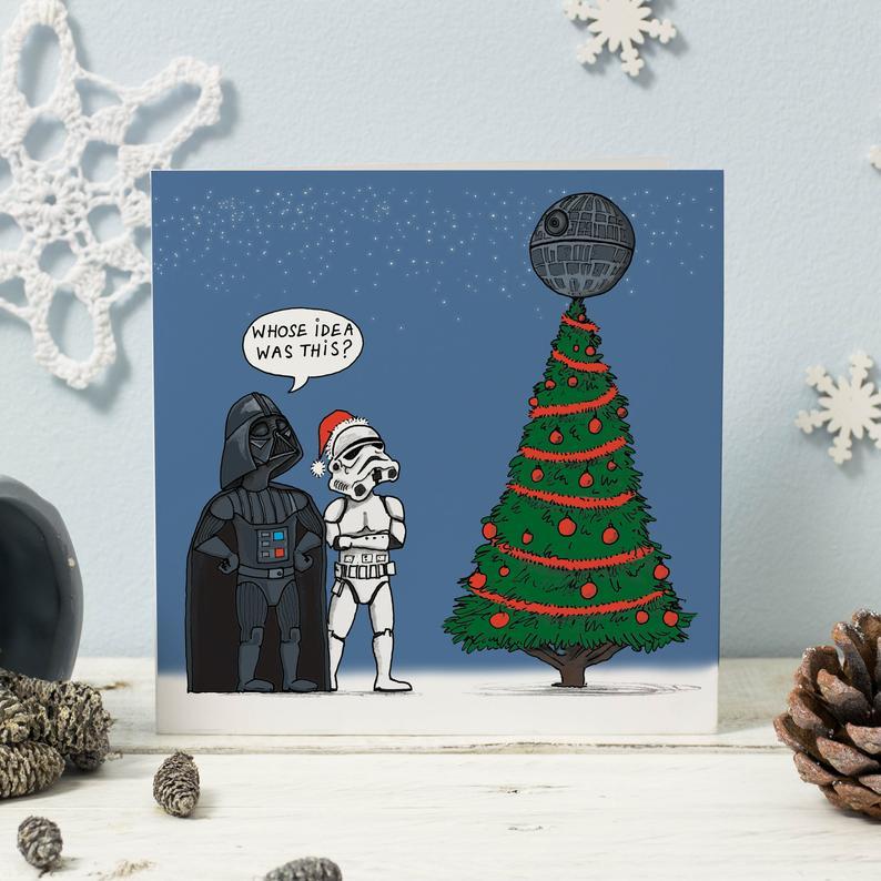 Funny Star Wars Funny Christmas Card
