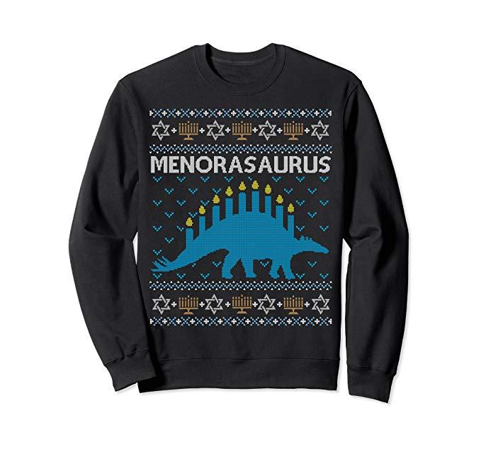 Funny Dinosaur Ugly Hanukkah Sweater