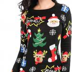 Vintage-Funny-Merry-Tunic-Knit-Sweaters