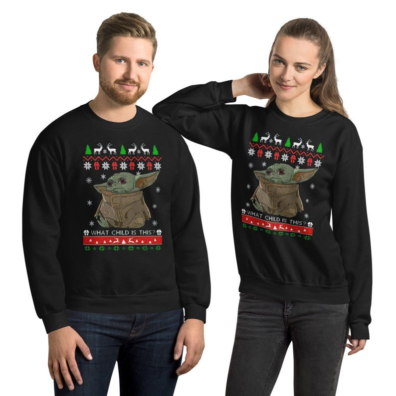 Baby Yoda ugly Christmas Sweaters for couples