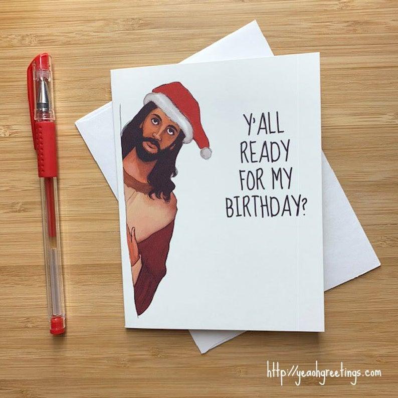 Jesus funny Christmas card