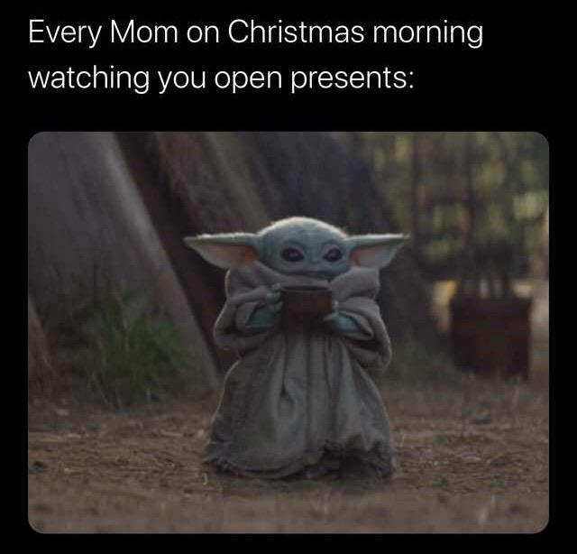 baby yoda christmas meme