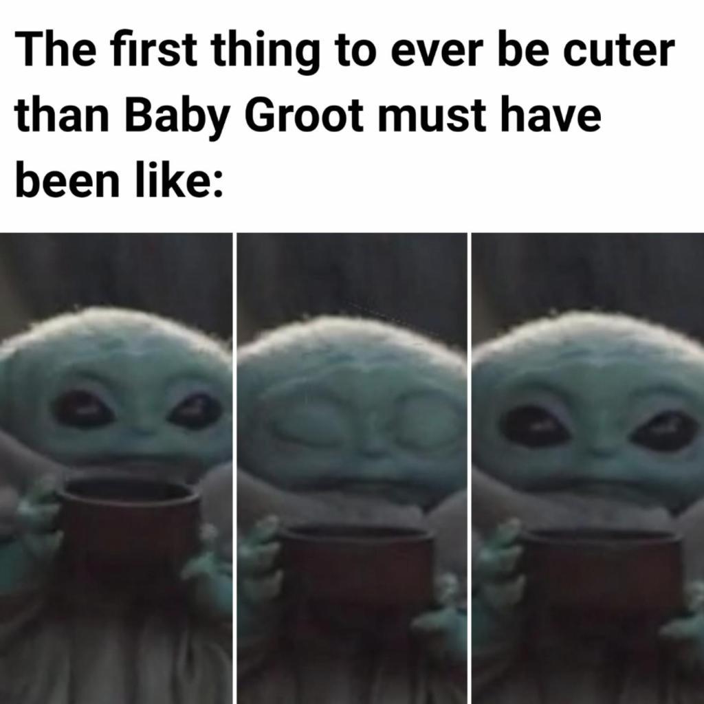 groot vs baby yoda meme