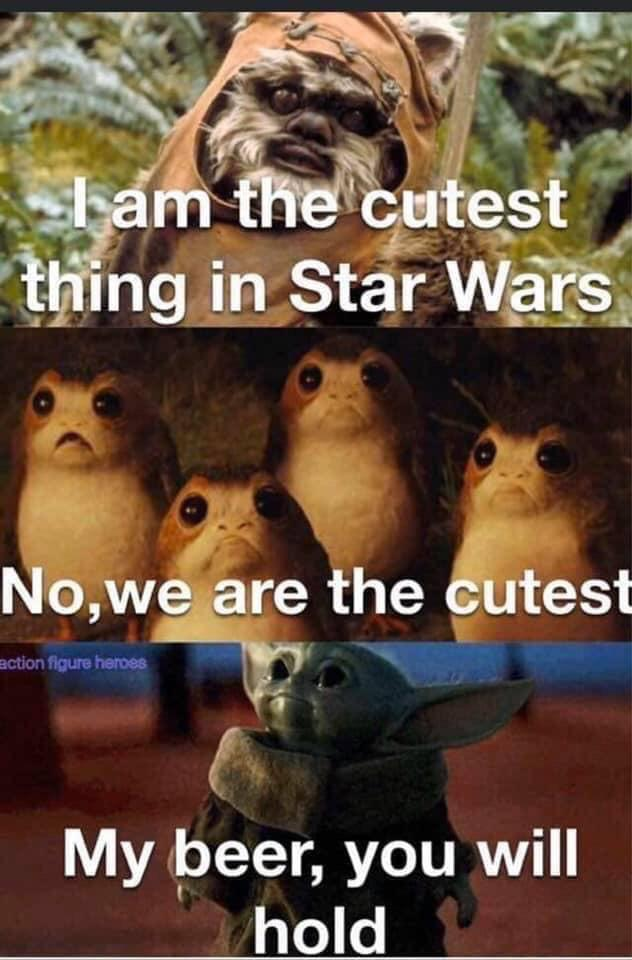 baby yoda is the cutest now meme