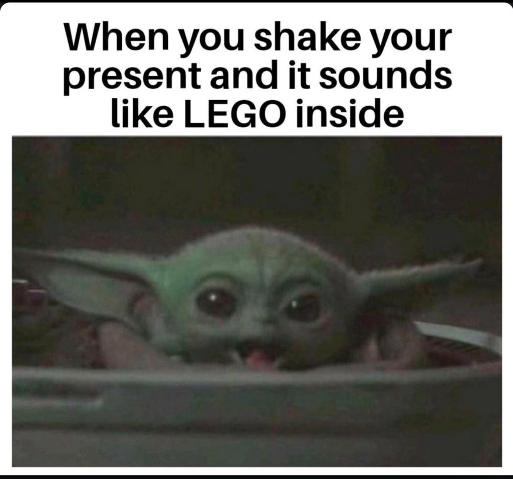baby yoda lego meme