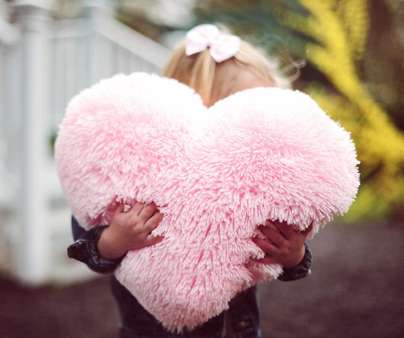 heart shaped pillow for valentine's day