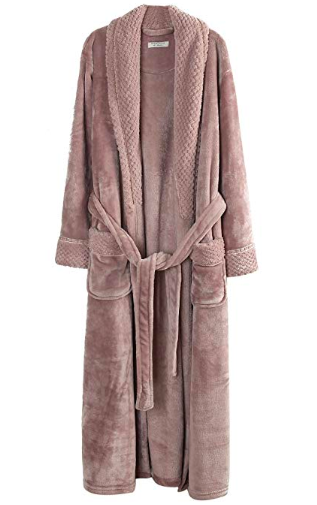 Fleece bathrobe for her