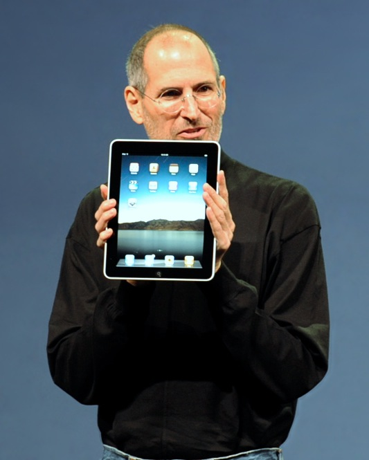 Steve Jobs at the iPad's Launch
