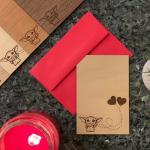 Baby Yoda Wooden Valentine's Day Card