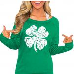 Clover Design Women's St. Patrick's Day Green Long Sleeve