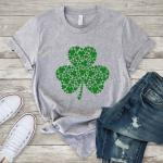 Clovers in a clover St. Patrick's Day Shirt