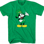 Disney Mickey Mouse Wave St. Patrick's Day Men's Adult Graphic Tee T-Shirt