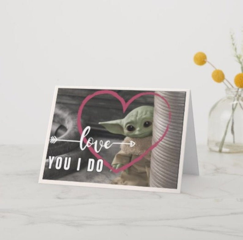 love you i do baby yoda card
