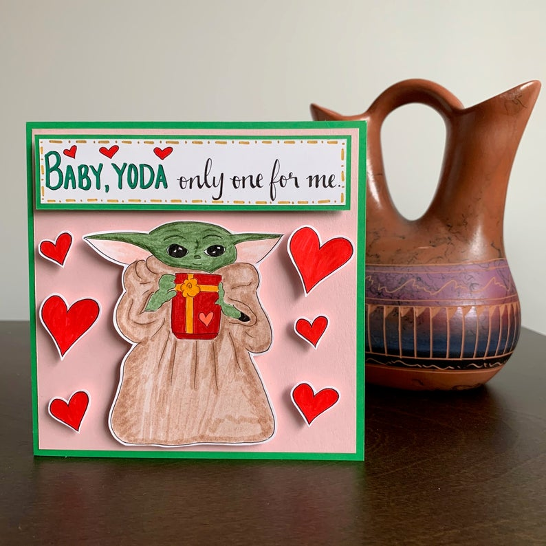 Pop out Baby Yoda Valentine's Card