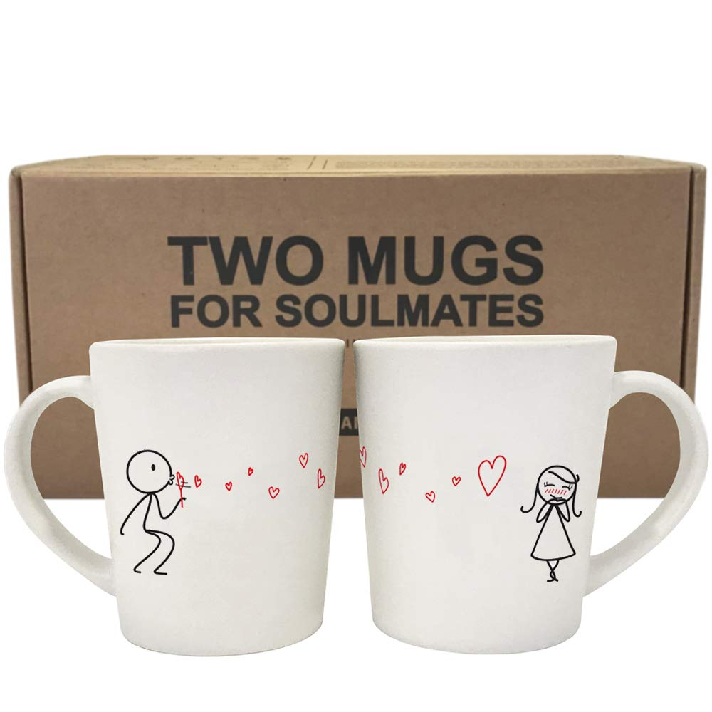 His and Hers matching cup set for valentines day