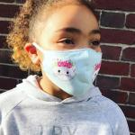 Reusable Cotton Face Mask with Cute Cat Design