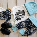 The Force That Awakens You Baby Boy Star Wars Coming Home Outfit