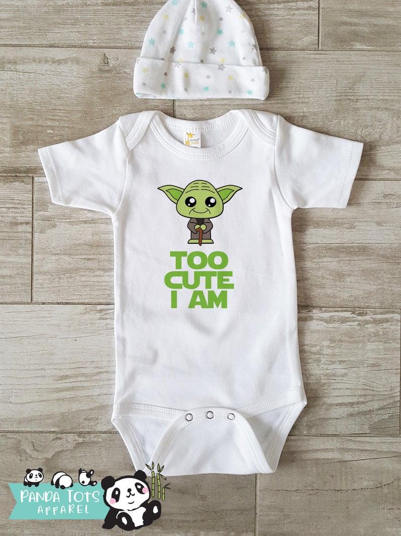 I Speak Wookee Star Wars Baby Bodysuit Onesie /& Matching bib