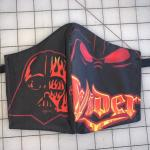 Black and Red Vader Handmade Face Mask
