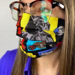 Colorful Star Wars design on a Two-Layer Reusable Face Mask
