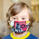 Kids and Adult Size Face Cover Face Mask In Star Wars Characters Print