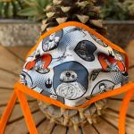 Orange and White Themed Triple Layer Star Wars Face Mask