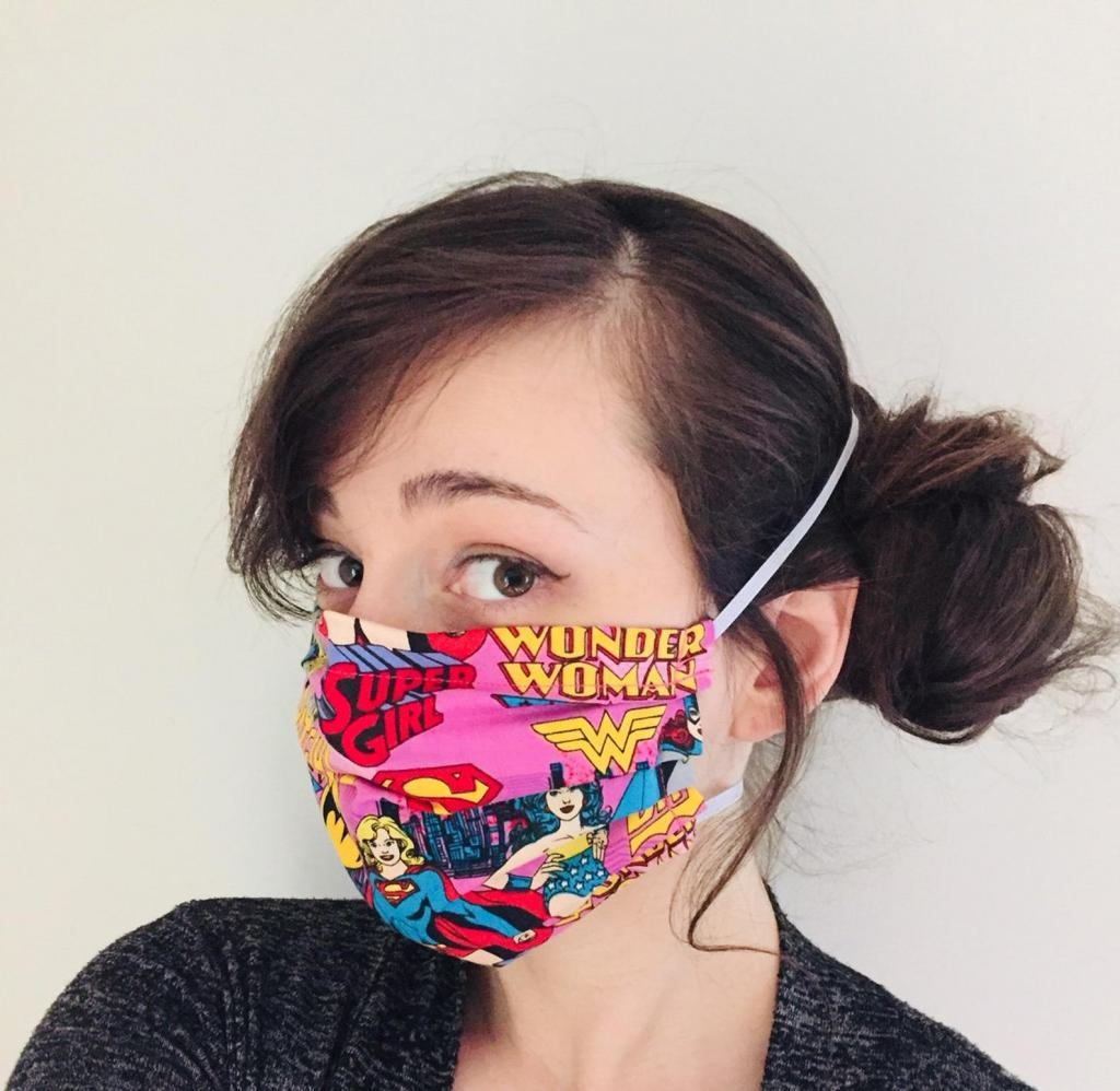 Strong Woman Face Mask
