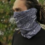 Traditional Japanese Patterns on Neck Gaiter for Men and Women