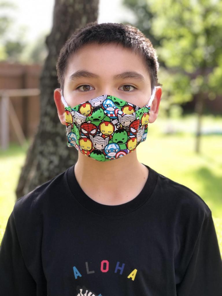 Fun Superhero Face Mask for Kids