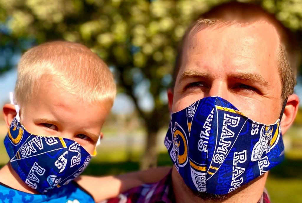 Quirky Los Angeles Rams Face Mask