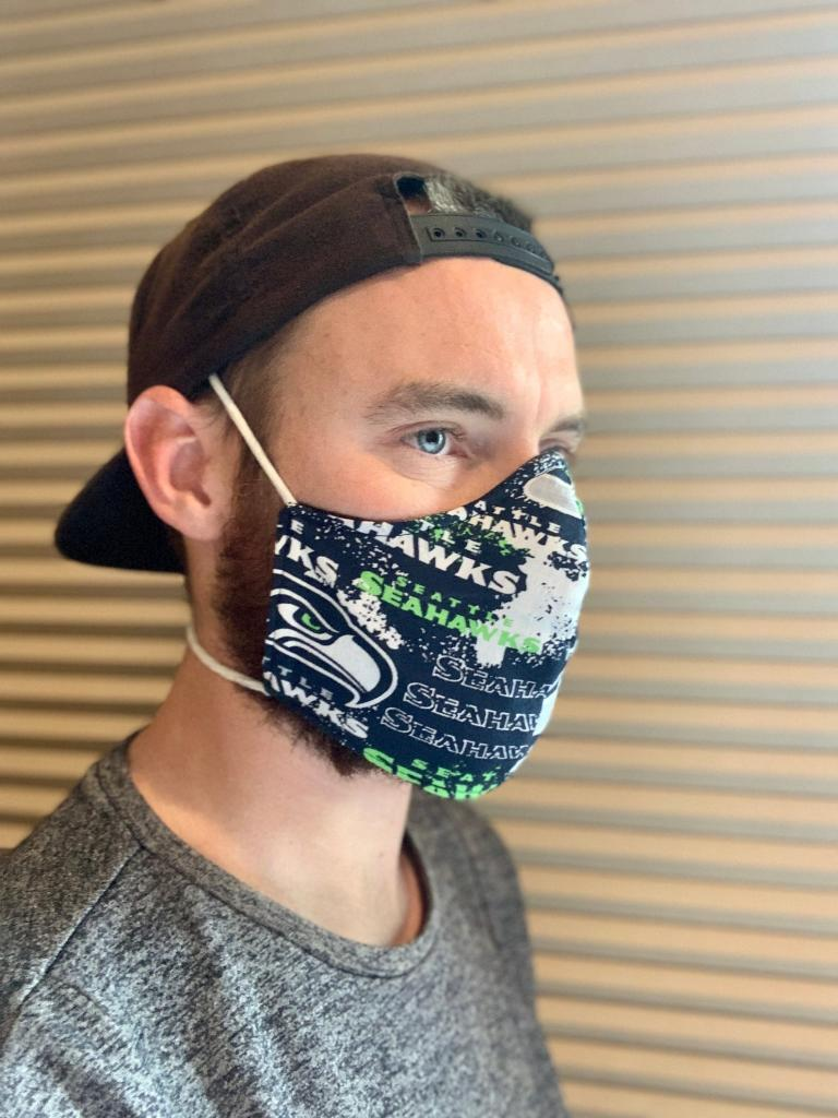 Rugged Seattle Seahawks Face Mask