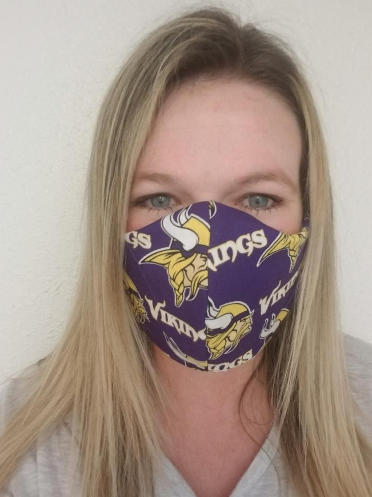 Ice Blue Minnesota Vikings Face Mask