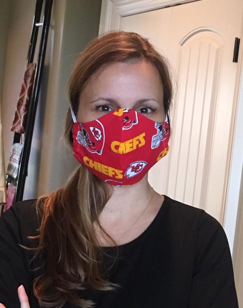 3 Layered Kansas City Chiefs Face Mask