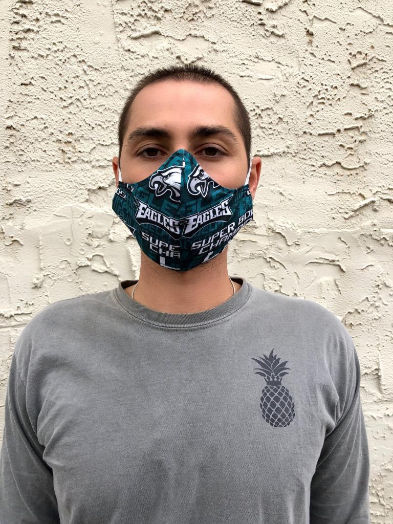 Geeky Philadelphia Eagles Face Mask