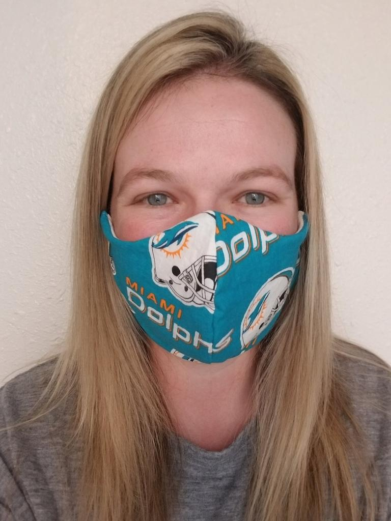 Chic Miami Dolphins Face Mask