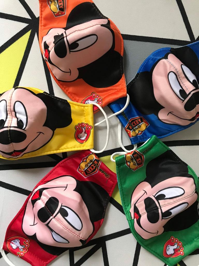Set of 5 Mickey Mouse Masks for Kids