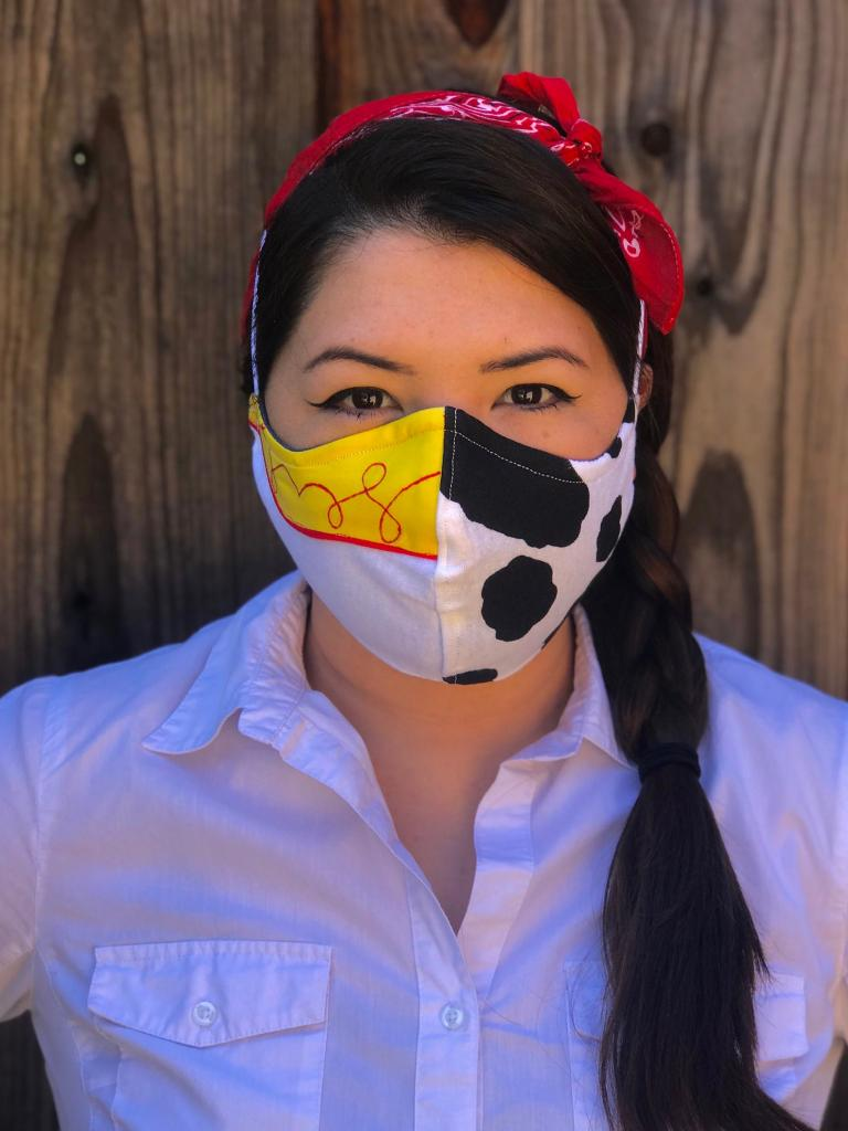Quirky Cowgirl Face Mask for Women