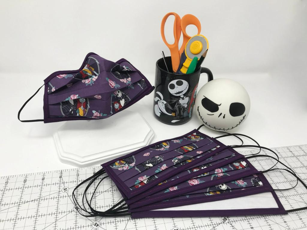 Reusable Jack and Sally Face Mask
