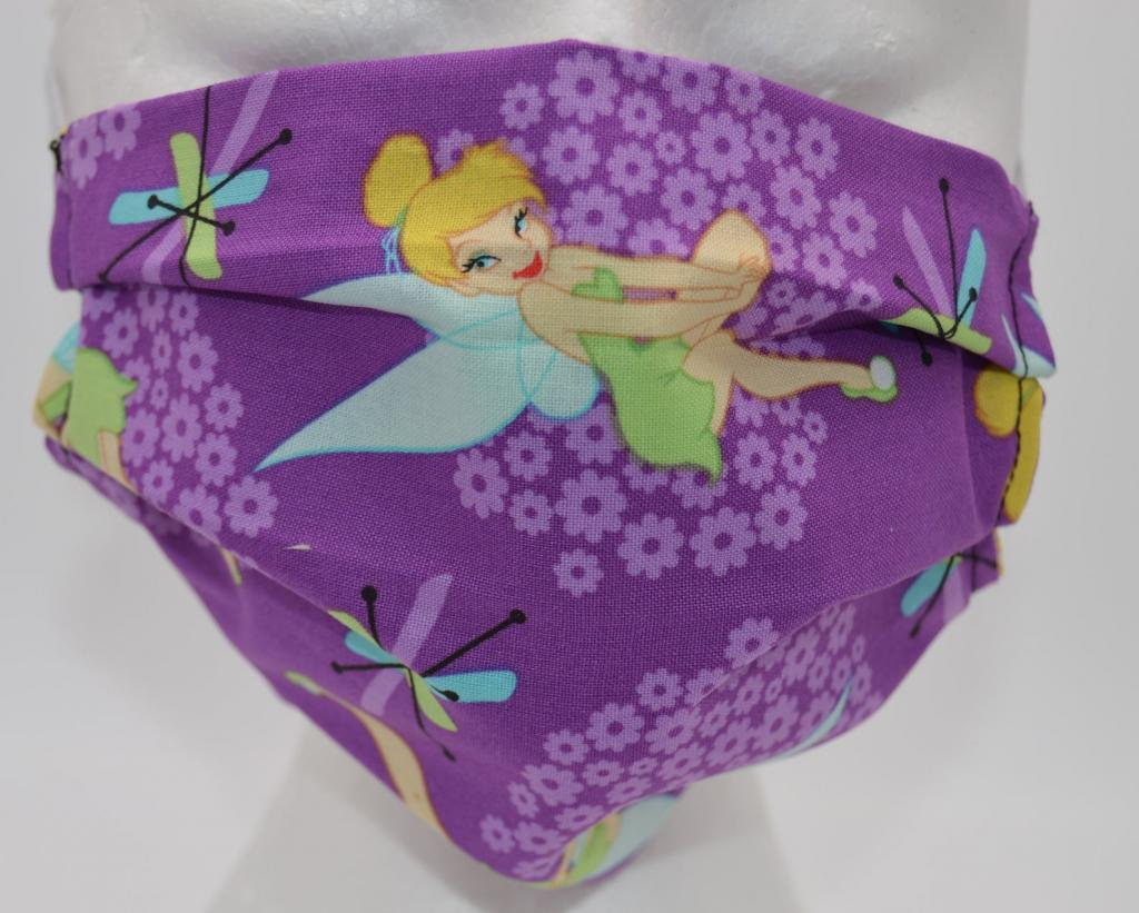 Washable Purple Tinker Bell Face Mask for Adults