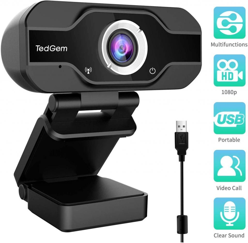 TedGem 1080P Full HD Webcam