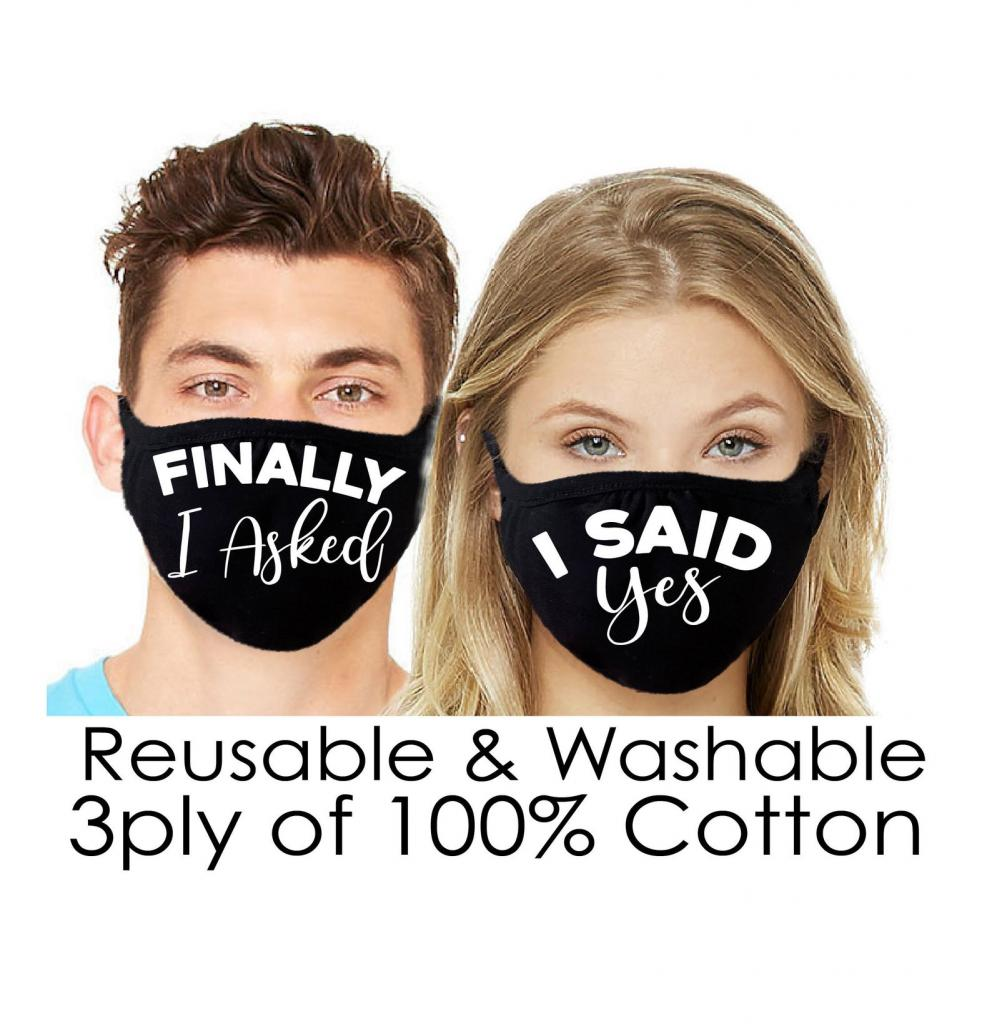"""Finally I Asked"" Face Mask"
