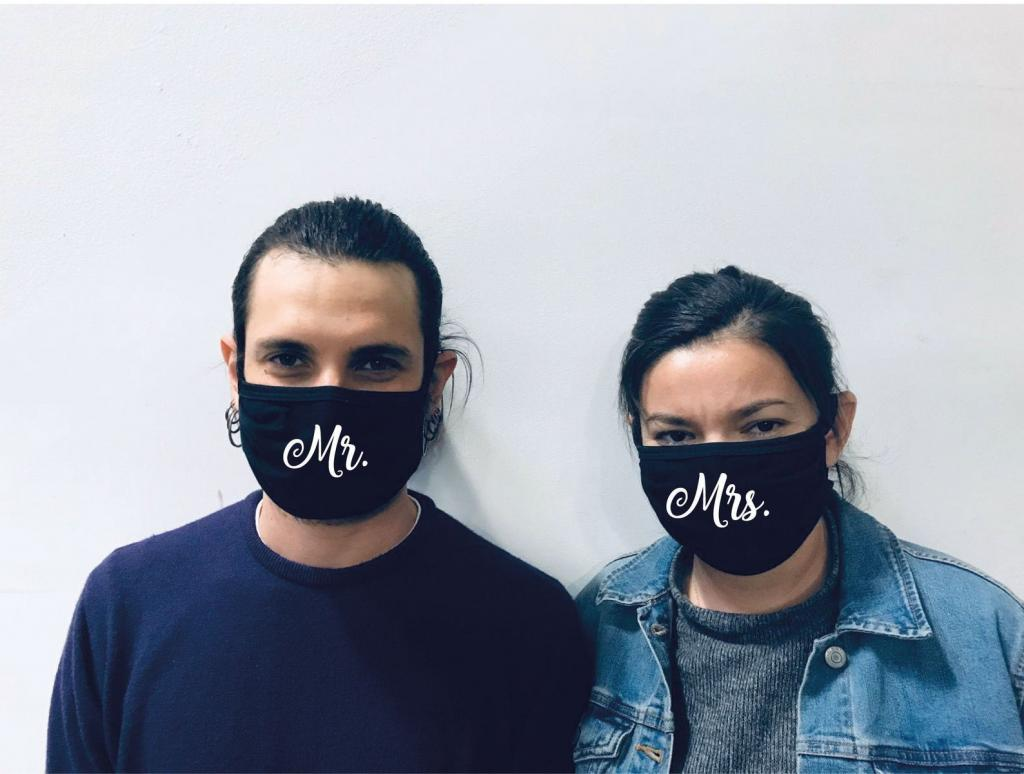 Face Mask for Mr and Mrs