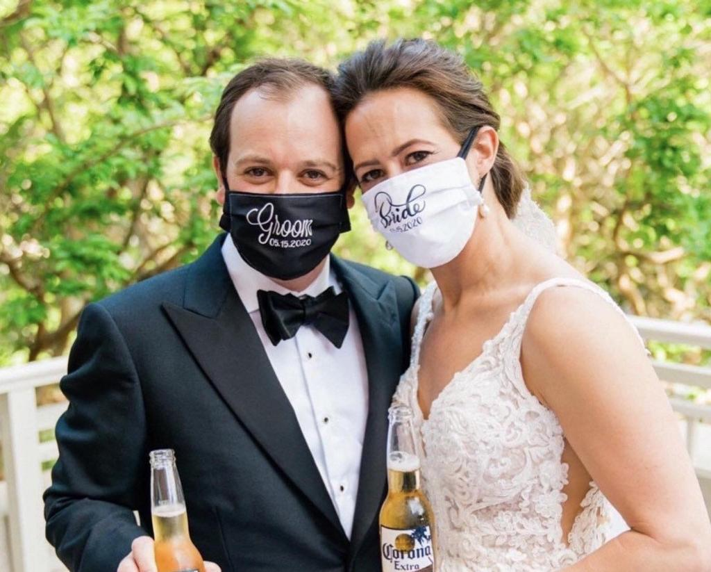 Groom and bride masks