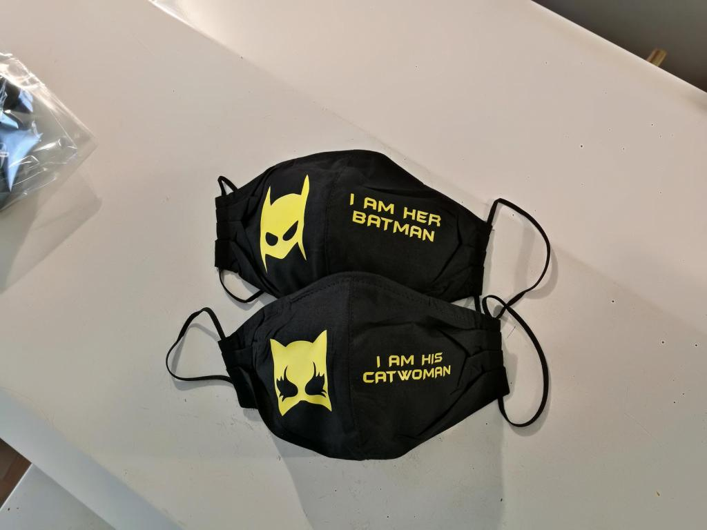 Batman and Catwoman masks