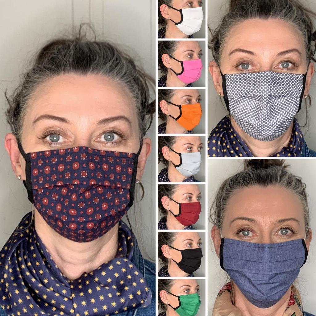Pleated Washable Face Masks