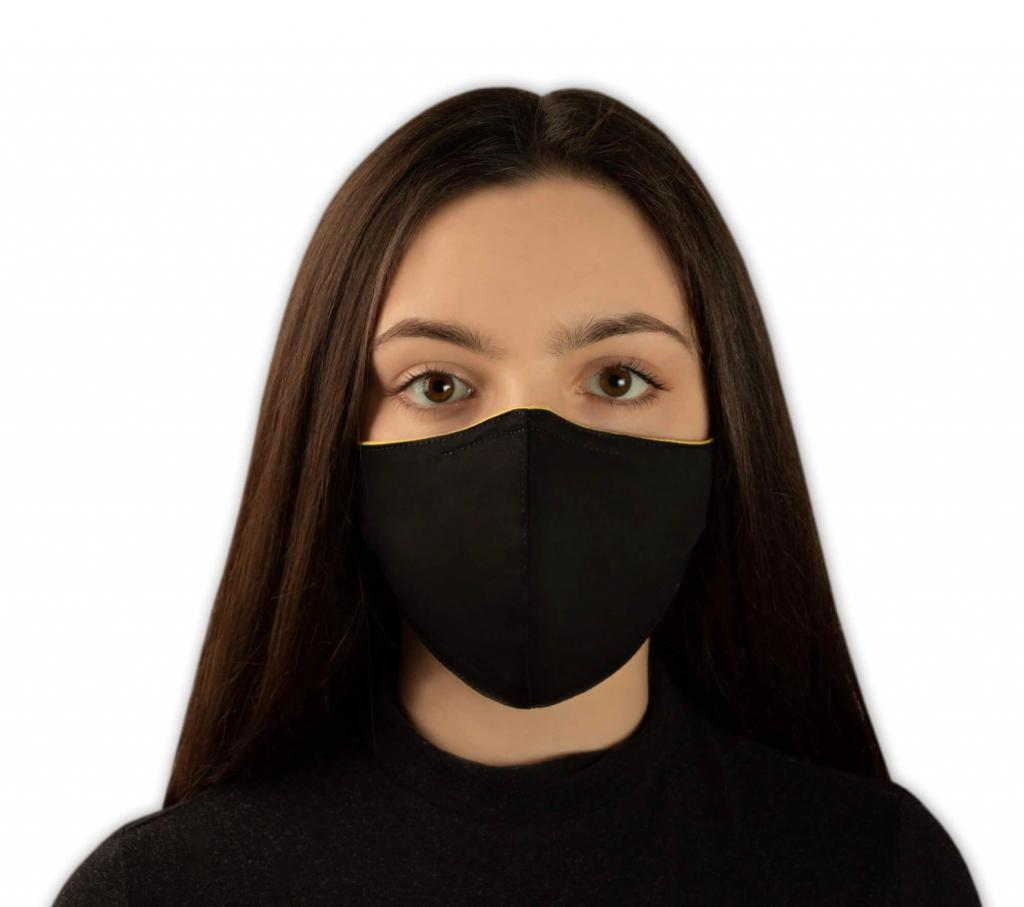 Slick Black Reusable Face Mask