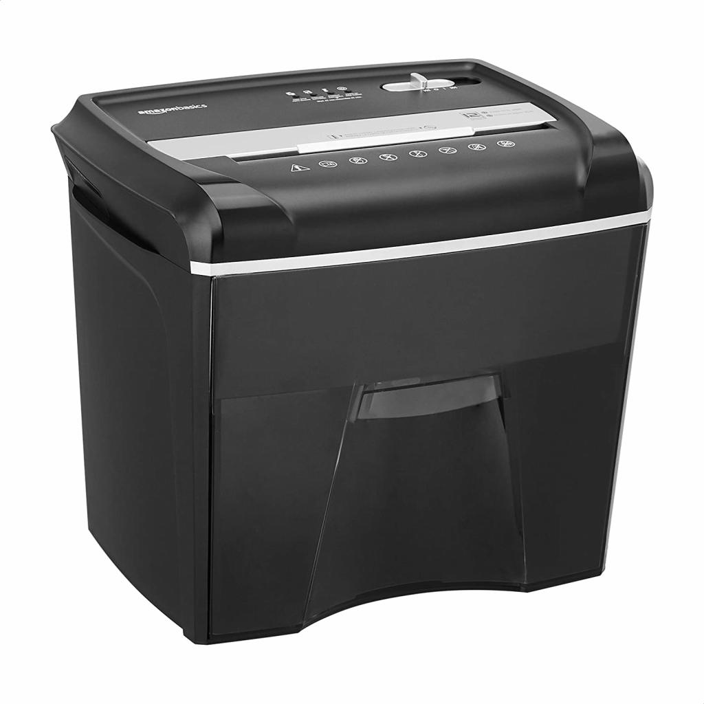 AmazonBasics 12-Sheet Cross-Cut Paper, Junk Mail, CD, and Credit Card Shredder