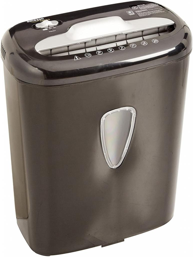 AmazonBasics 6-Sheet Micro-Cut Paper and Credit Card Home Office Shredder