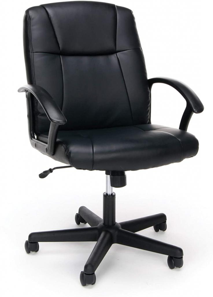Bonded Leather Executive Chair by OFM