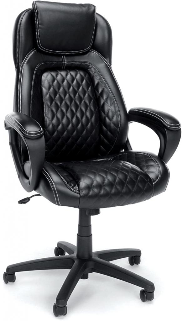 Luxurious Leather High Back Office Chair by OFM